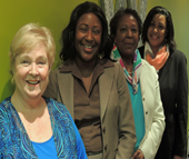 Charlotte Works welcomes new staff members (from left) Linda Britton, Stacey Henderson, Priscilla Ledbetter and Toni Hastings.