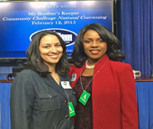 (L) Danielle Frazier, Charlotte Works' systems operations director, and Dawn Hill, manager of the Mayor's Youth Employment Program, at the My Brother's Keeper Community Challenge National Convening at the White House on Feb 12.