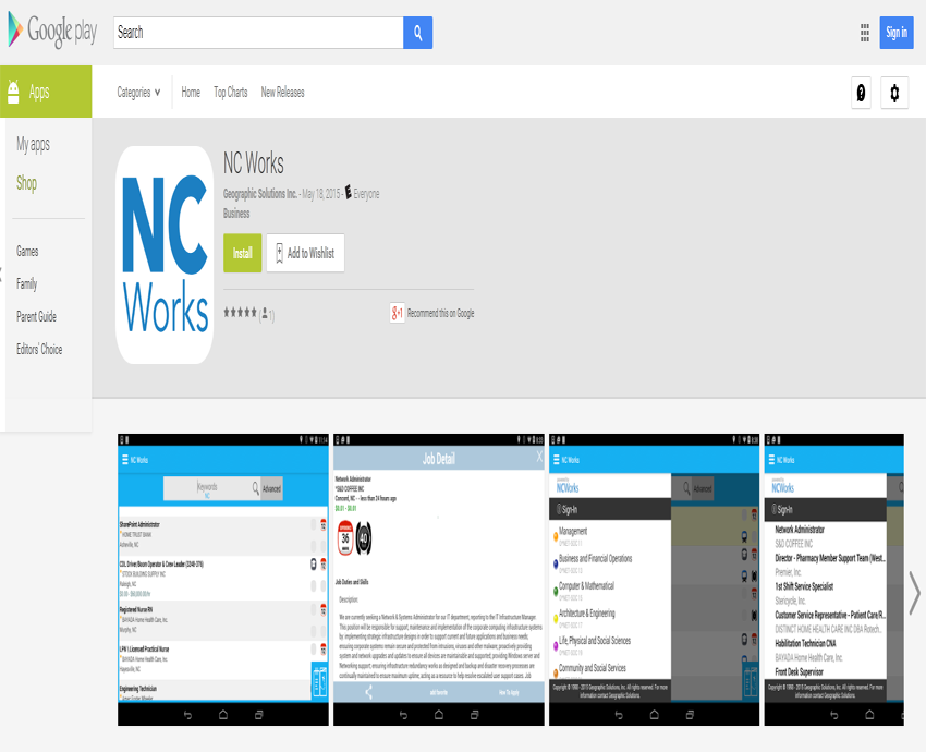 NCWorks Mobile App screen shot - Article (large)