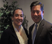 "Wendy de Leon Hernandez met U.S. Deputy Secretary of Labor Christopher Lu on his visit to the NCWorks Career Center at W. Morehead Street earlier this month. She shared with him that she ""wouldn't be sitting here today"" without the support of Charlotte Works' Youth Works program."