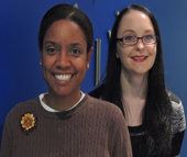 Natasha Warren (l) and Emily Clamp are the newest members of the Charlotte Works team.