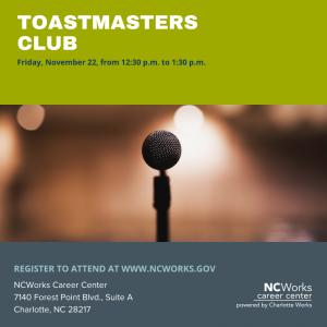 Toastmasters Club Workshop - November 22, 2019