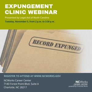 Expungement Clinic Webinar