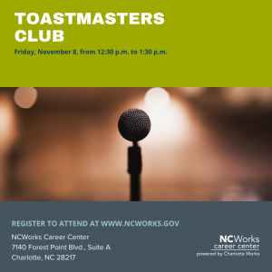Workshop: Toastmasters Club