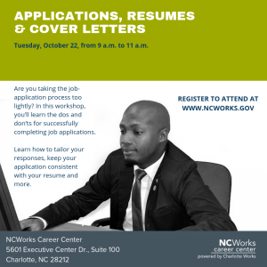 Workshop: Applications, Resumes & Cover Letters